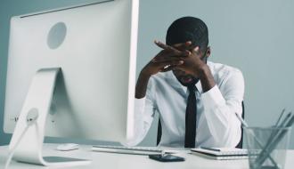 Man sitting in office desk